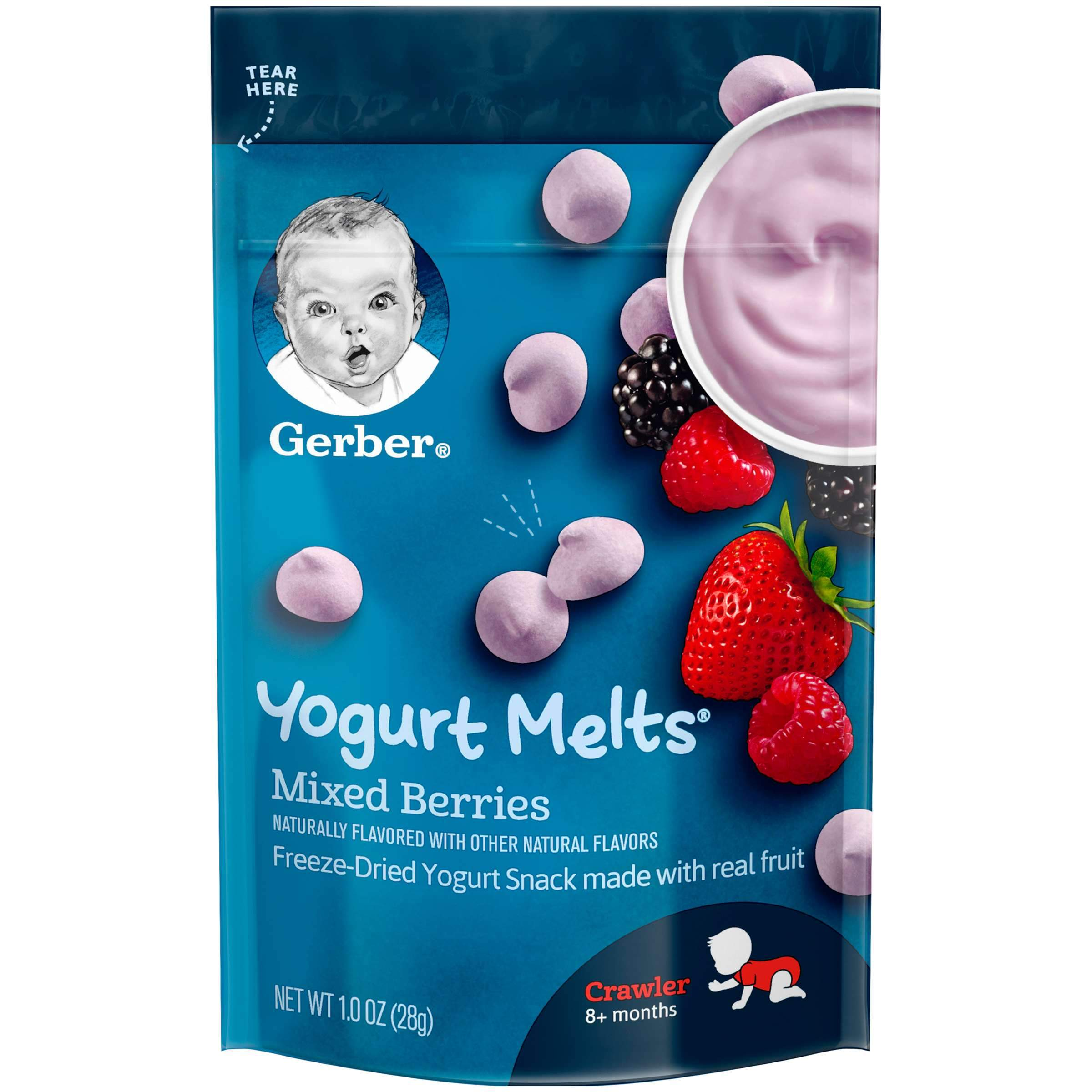 Gerber Melts & Yogurt Gerber Mixed Berries 1 Ounce