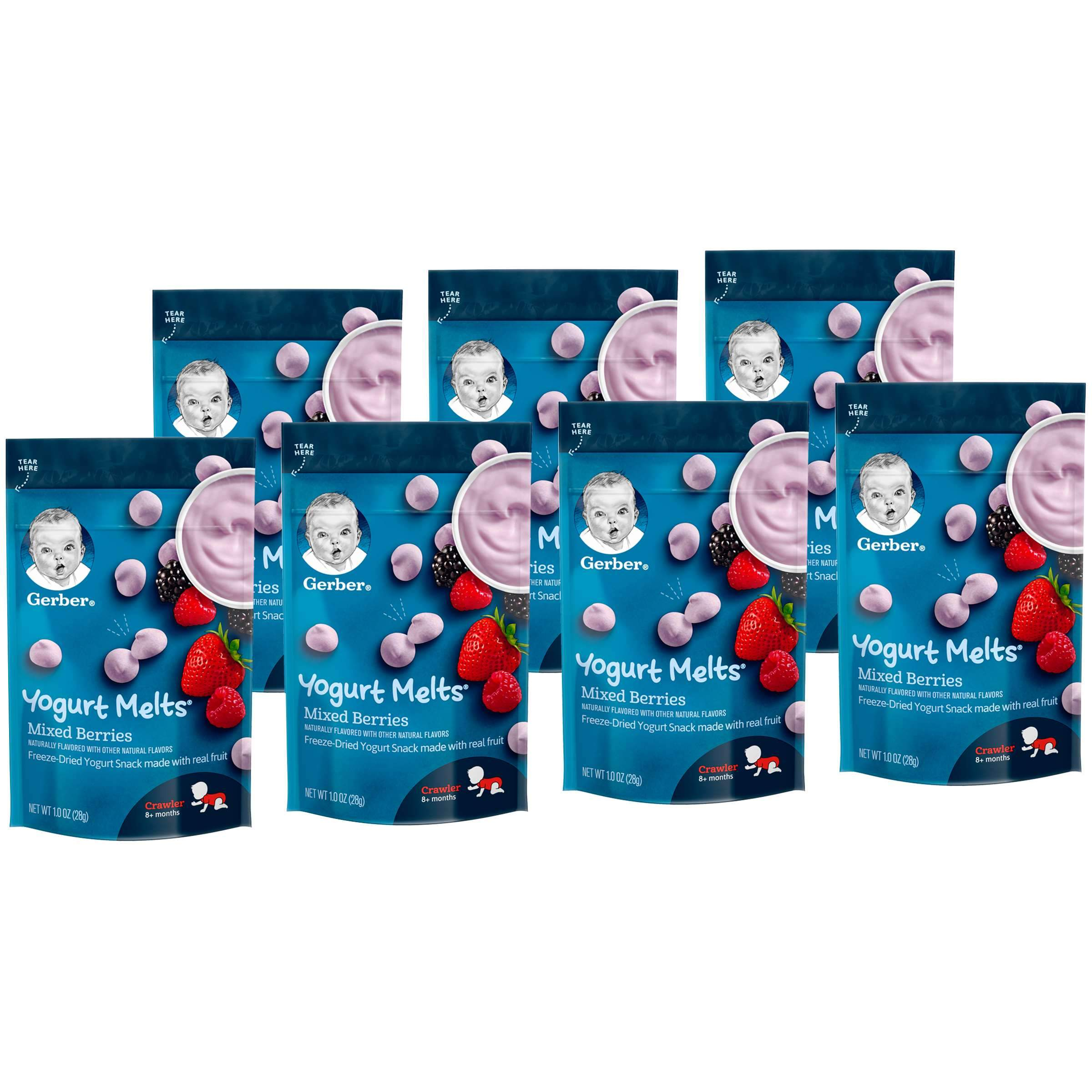 Gerber Melts & Yogurt Gerber Mixed Berries 1 Oz-7 Count
