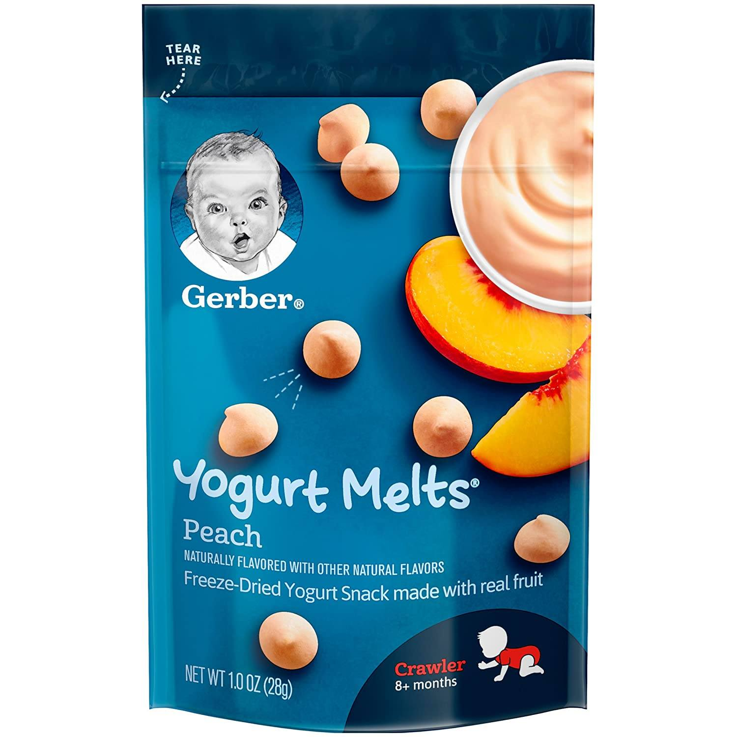 Gerber Melts & Yogurt Gerber Peach 1 Ounce