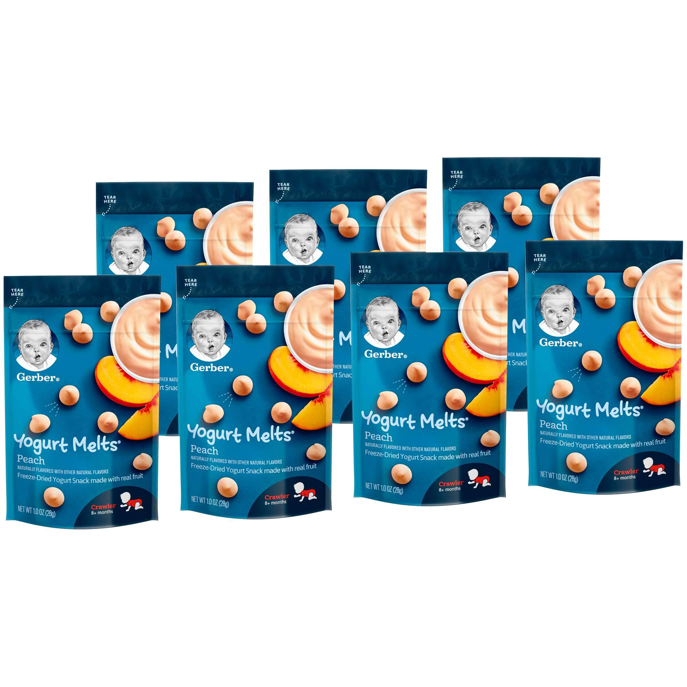 Gerber Melts & Yogurt Gerber Peach 1 Oz-7 Count
