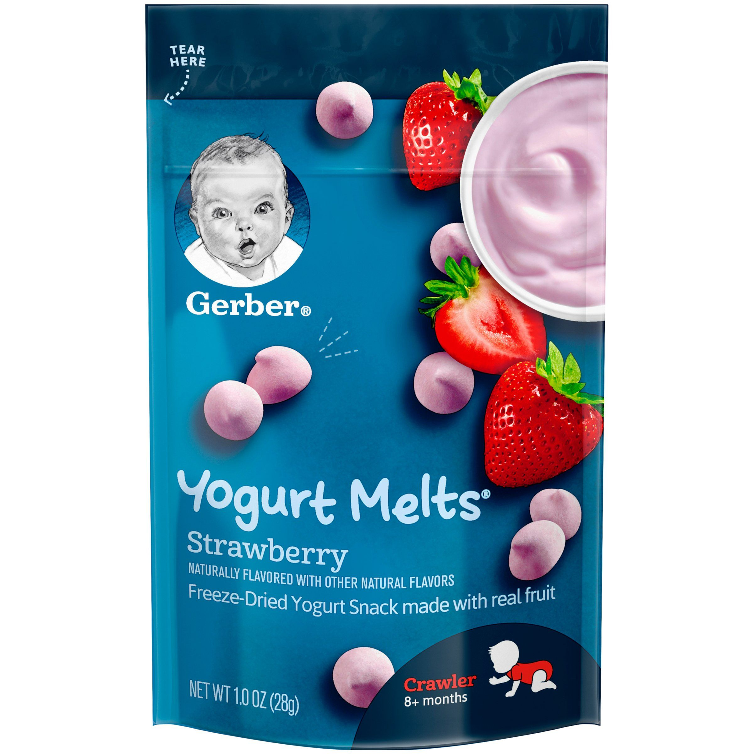 Gerber Melts & Yogurt Gerber Strawberry 1 Ounce