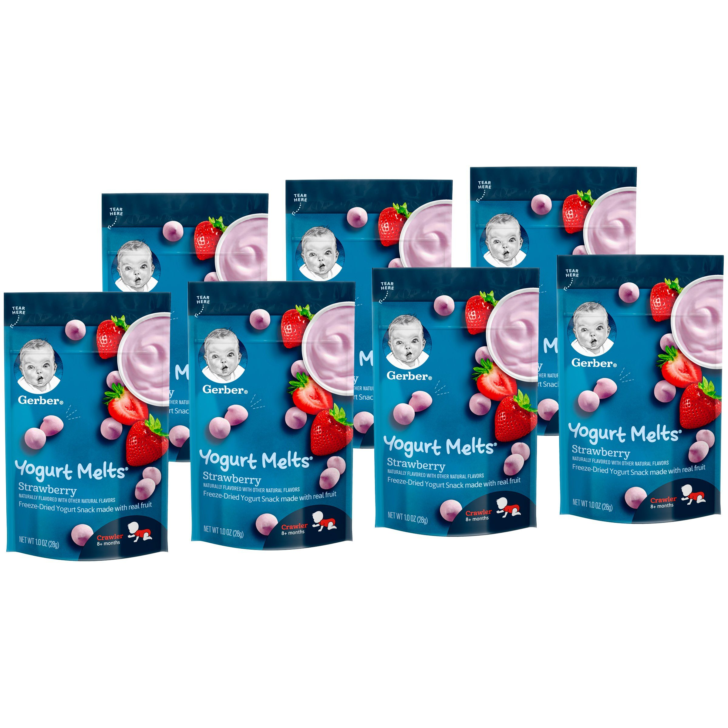Gerber Melts & Yogurt Gerber Strawberry 1 Oz-7 Count