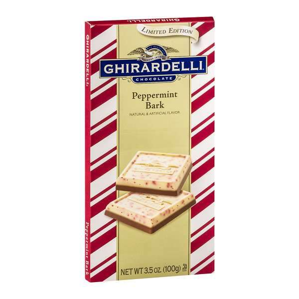 Ghirardelli Chocolate Bars Meltable Ghirardelli Peppermint Bark 3.5 Ounce