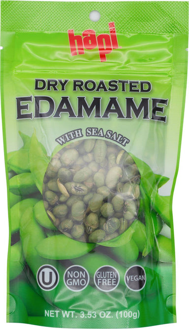 Hapi Dry Roasted Edamame with Sea Salt, 3.53 Ounce Hapi