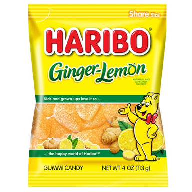 Haribo Gummi Candies Meltable Haribo Ginger-Lemon 4 Ounce