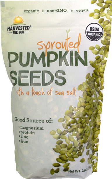 Harvested For You Sprouted Pumpkin Seeds, 22 Ounce Harvested For You