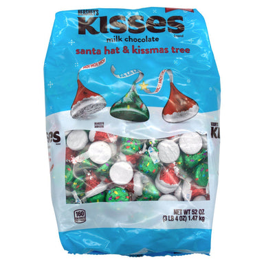 Hershey's Kisses Candy Meltable Hershey's Milk Chocolate - Santa Hat & Kissmas Tree 52 Ounce
