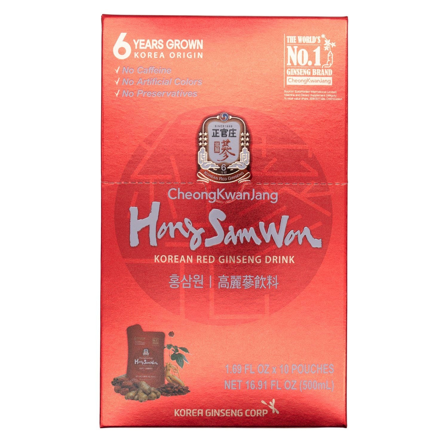 Hong Sam Won Red Ginseng Drink Hong Sam Won 1.69 Fl Oz-10 Count