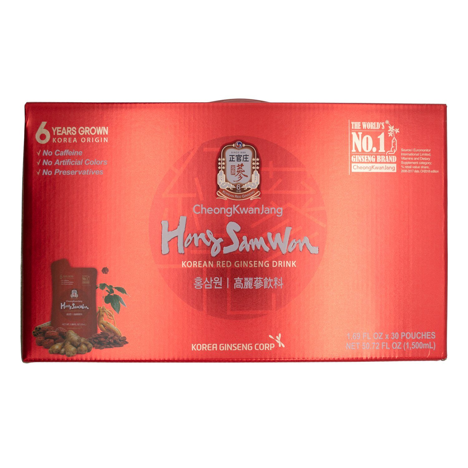 Hong Sam Won Red Ginseng Drink Hong Sam Won 1.69 Fl Oz-30 Count