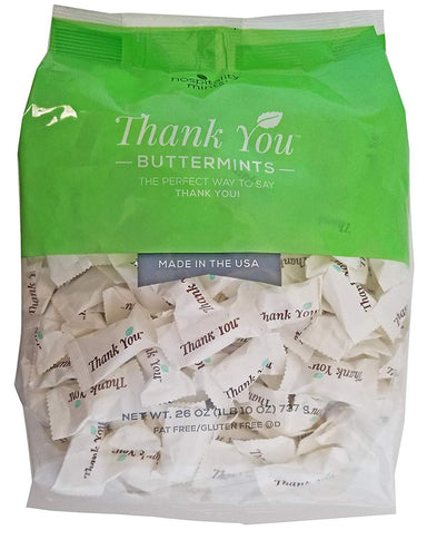 Hospitality Mints, Thank You Buttermints, 26 Ounce Snackathon Foods