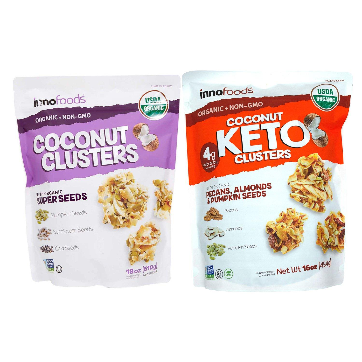 InnoFoods Organic Coconut Clusters InnoFoods
