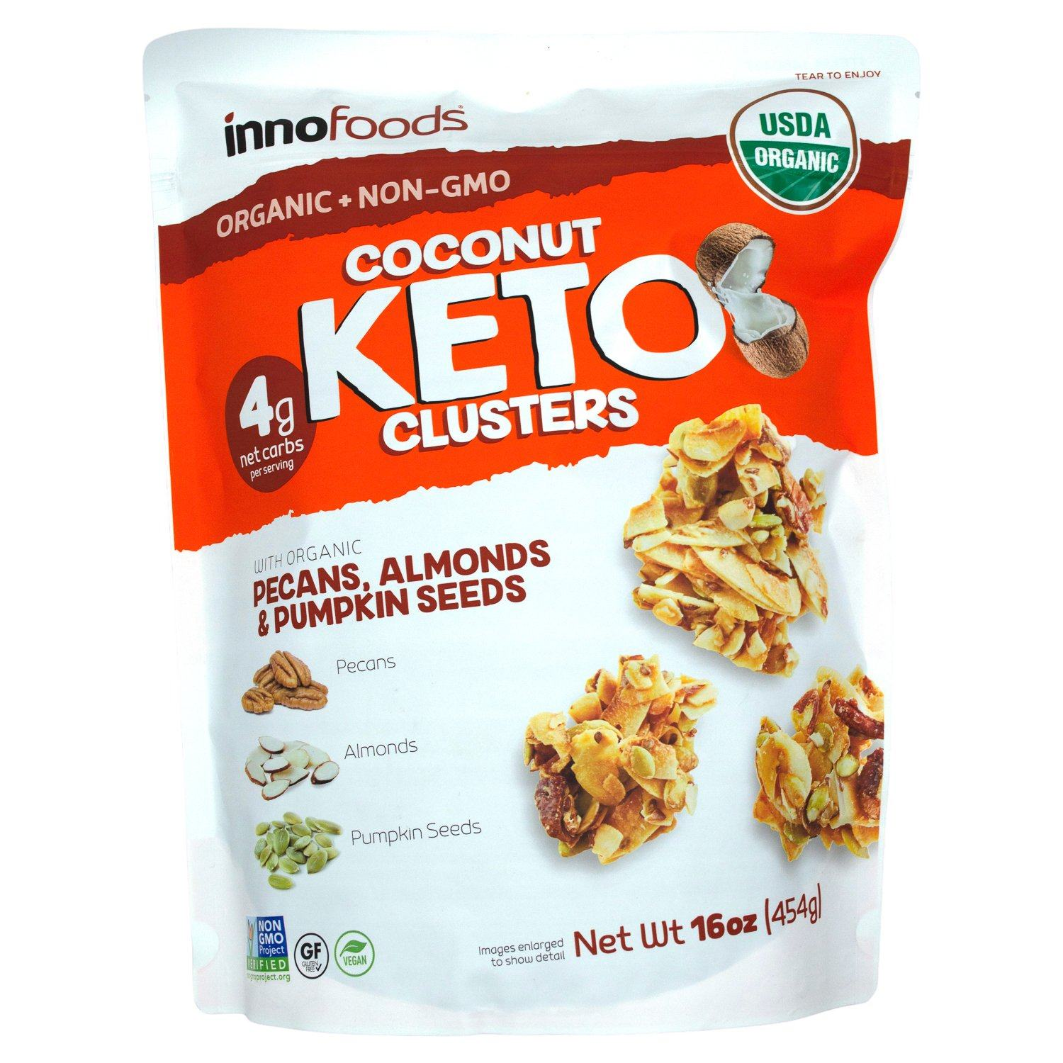 InnoFoods Organic Coconut Clusters InnoFoods Keto 16 Ounce