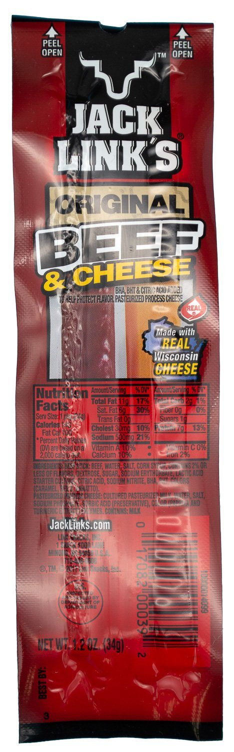 Jack Link's Original Beef & Cheese, 1.2 Ounce Jack Link's