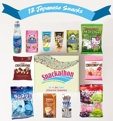 Japanese Snacks Variety Mix Sampler, Office Fun or Little Indulgences (12 Count) Snackathon Foods