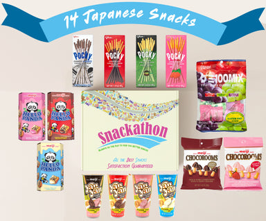 Japanese Snacks Variety Mix Sampler, Office Fun or Little Indulgences (14 Count) Snackathon Foods