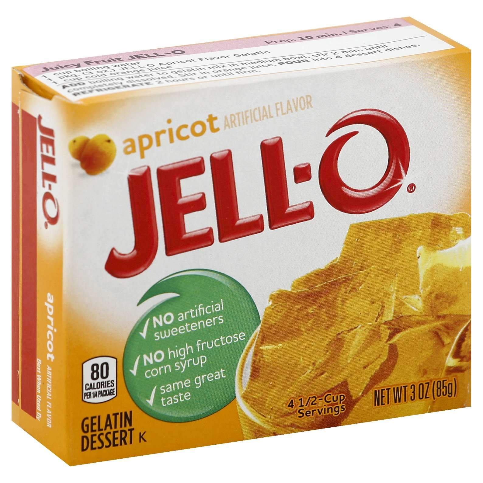 Jell-O Gelatin Mix Jell-O Apricot 3 Ounce