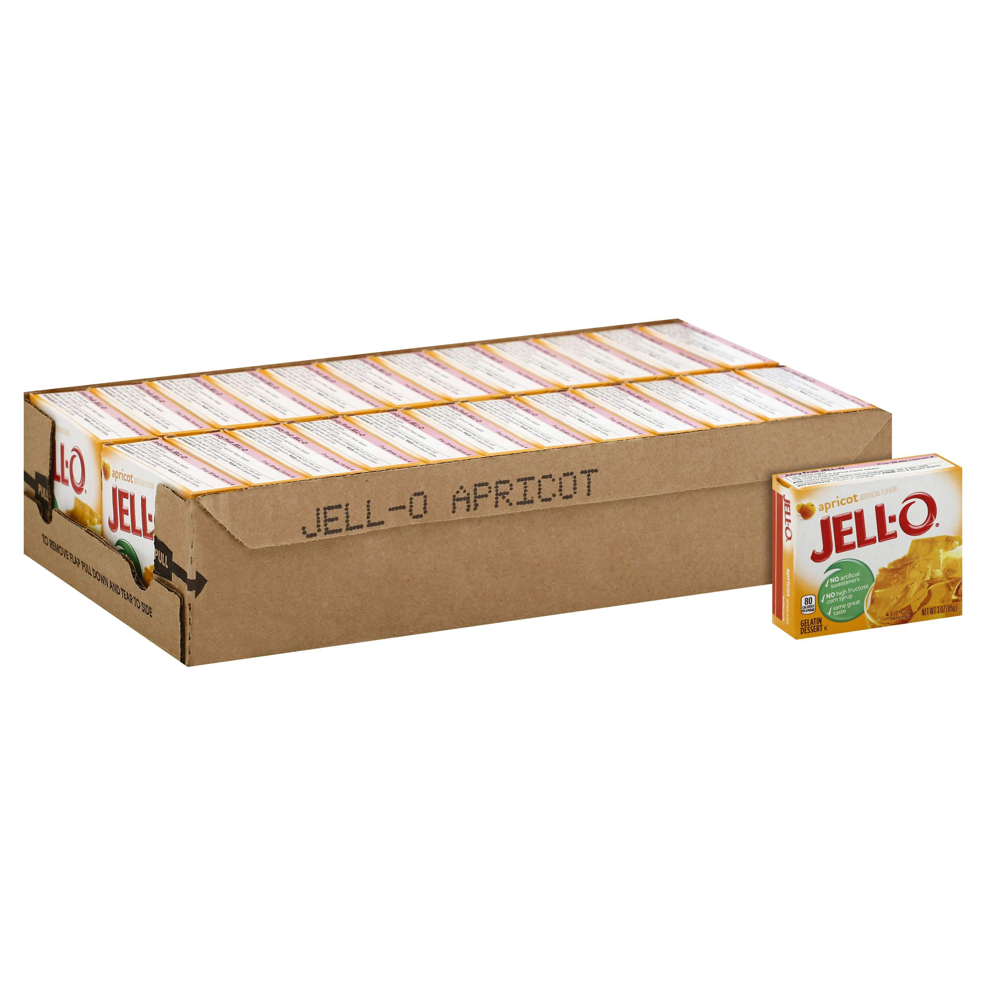 Jell-O Gelatin Mix Jell-O Apricot 3 Oz-24 Count