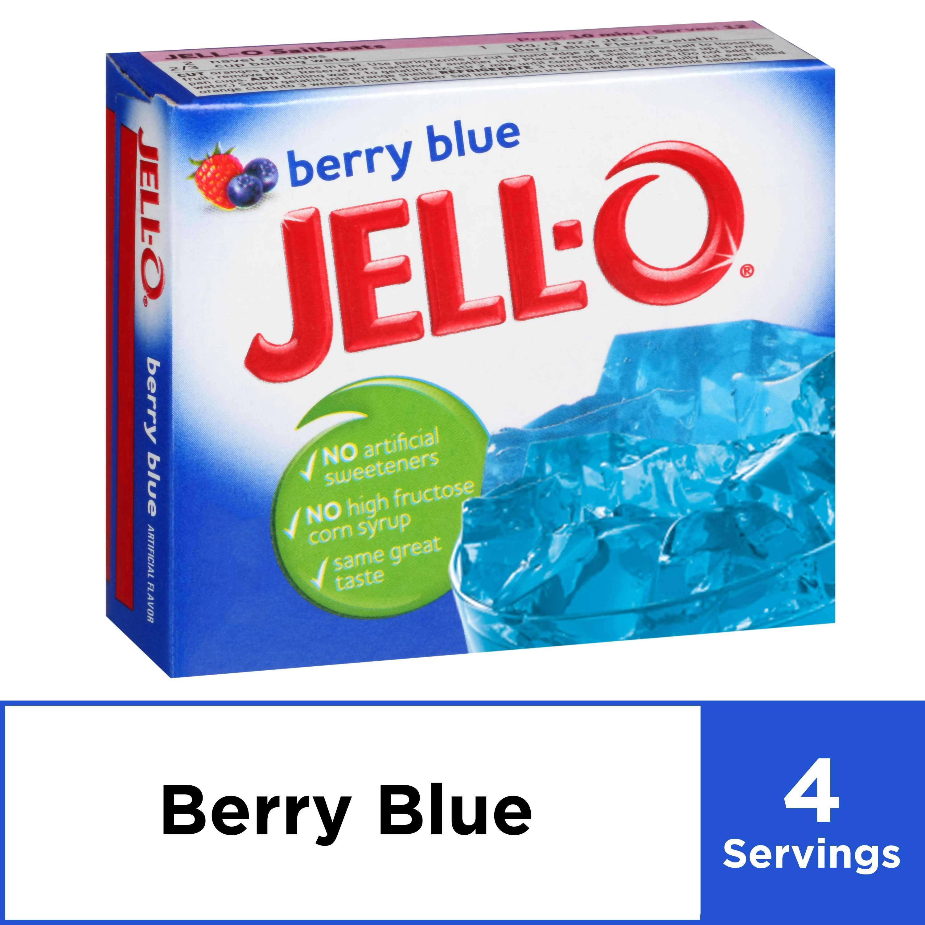 Jell-O Gelatin Mix Jell-O Berry Blue 3 Ounce