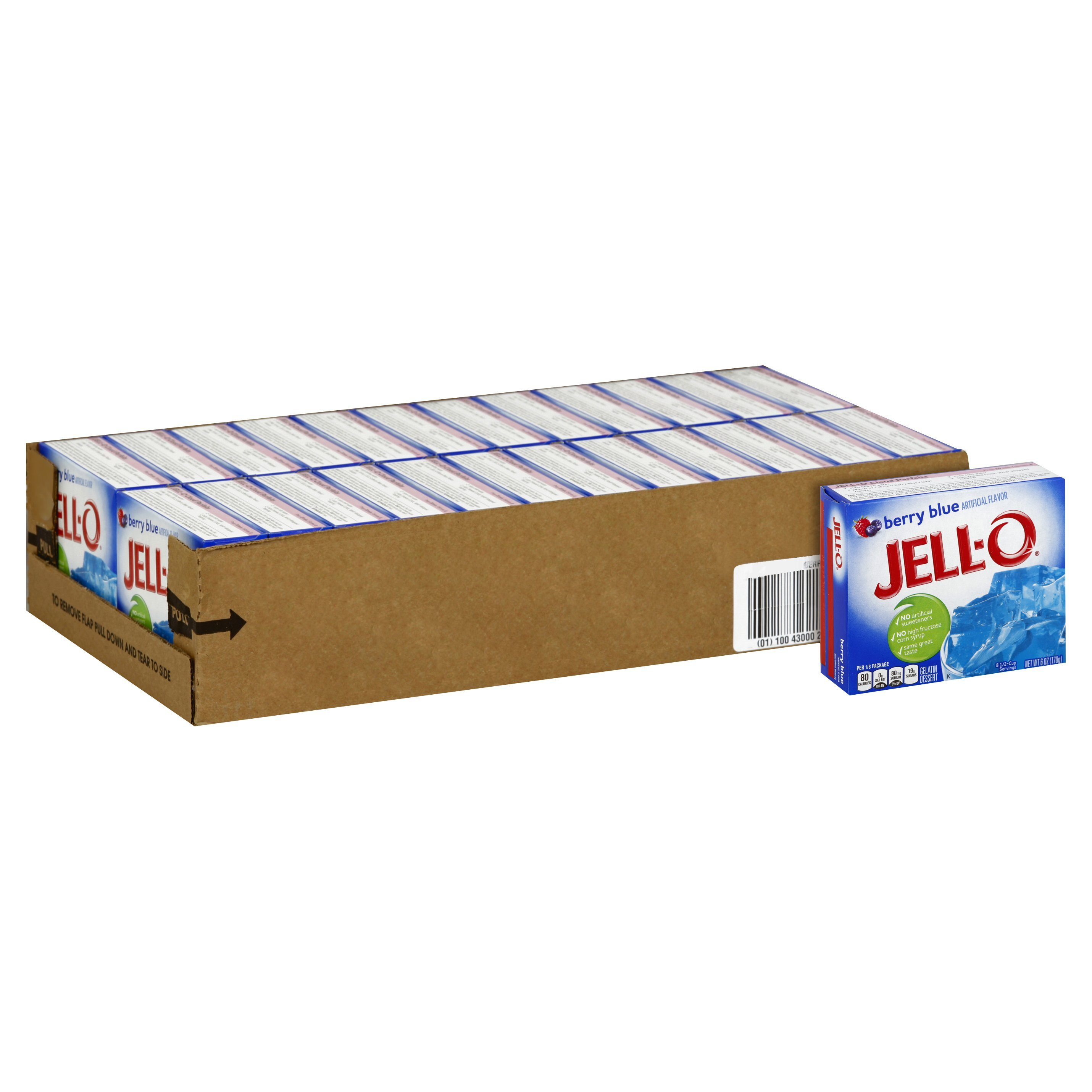 Jell-O Gelatin Mix Jell-O Berry Blue 6 Oz-24 Count