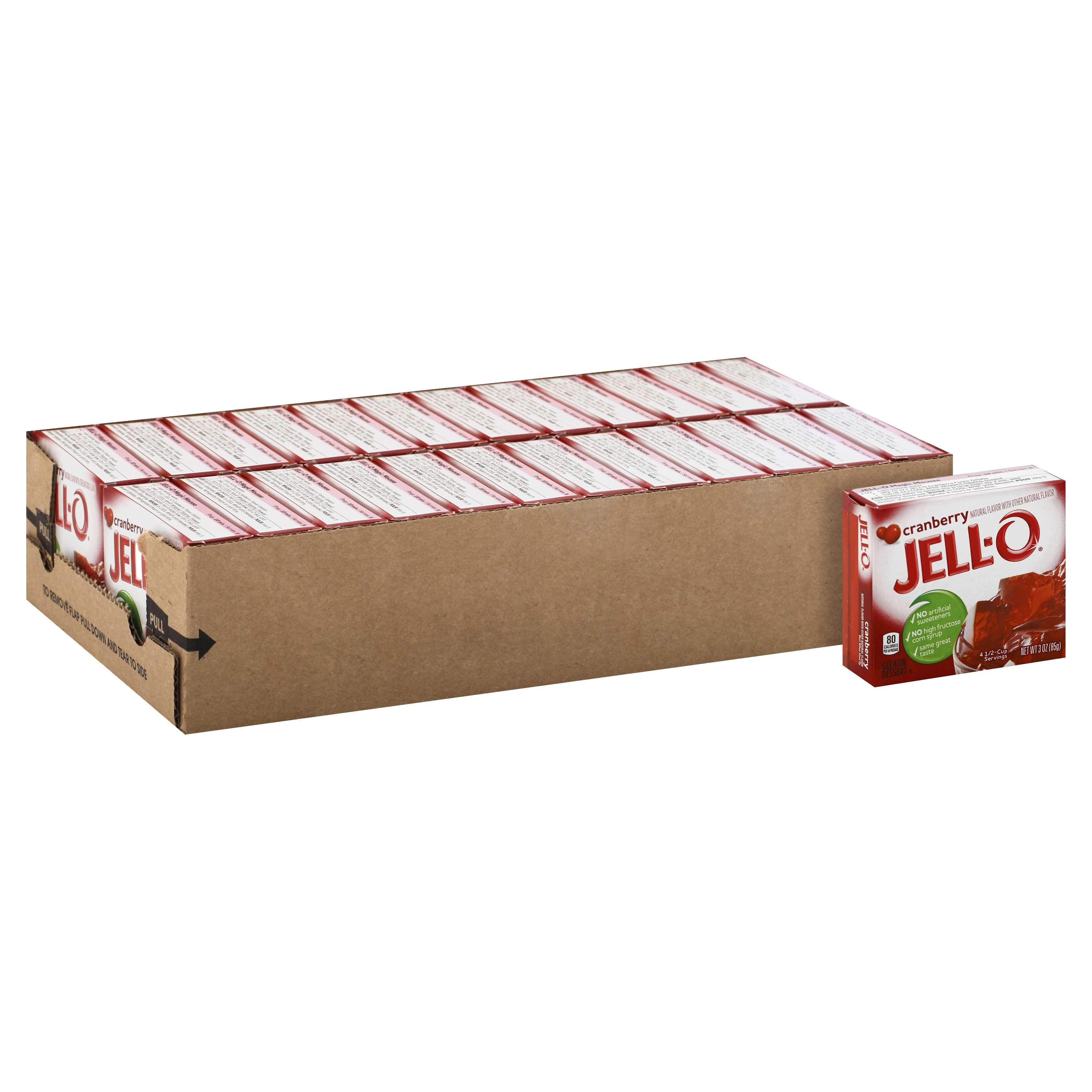 Jell-O Gelatin Mix Jell-O Cranberry 3 Oz-24 Count