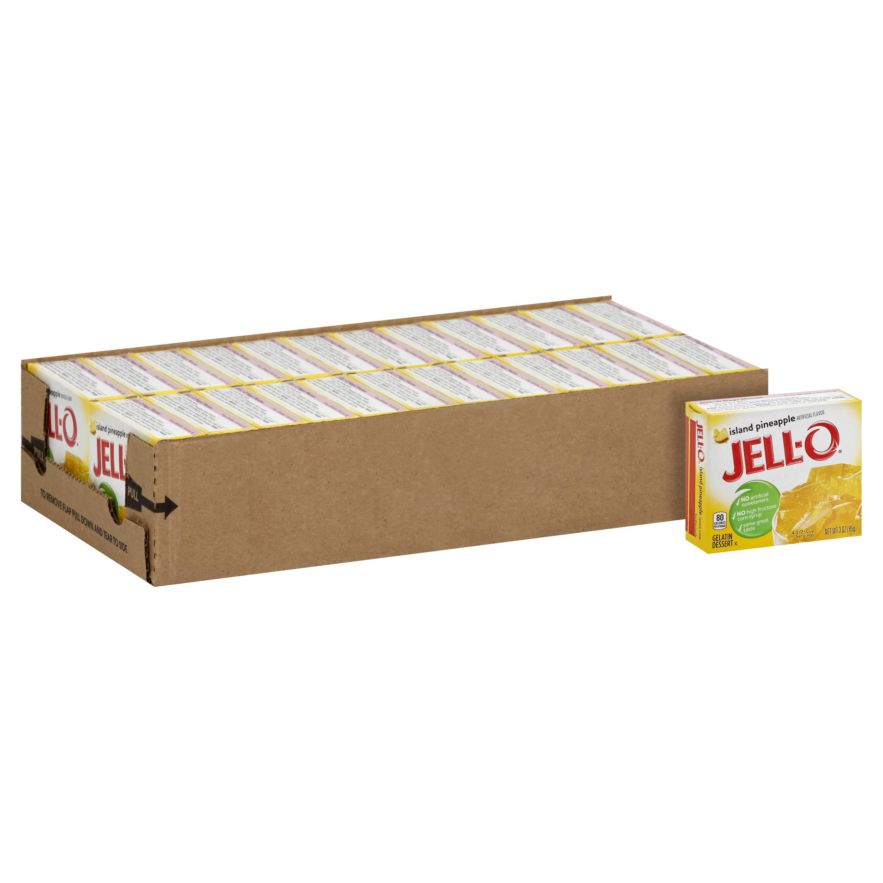 Jell-O Gelatin Mix Jell-O Island Pineapple 3 Oz-24 Count