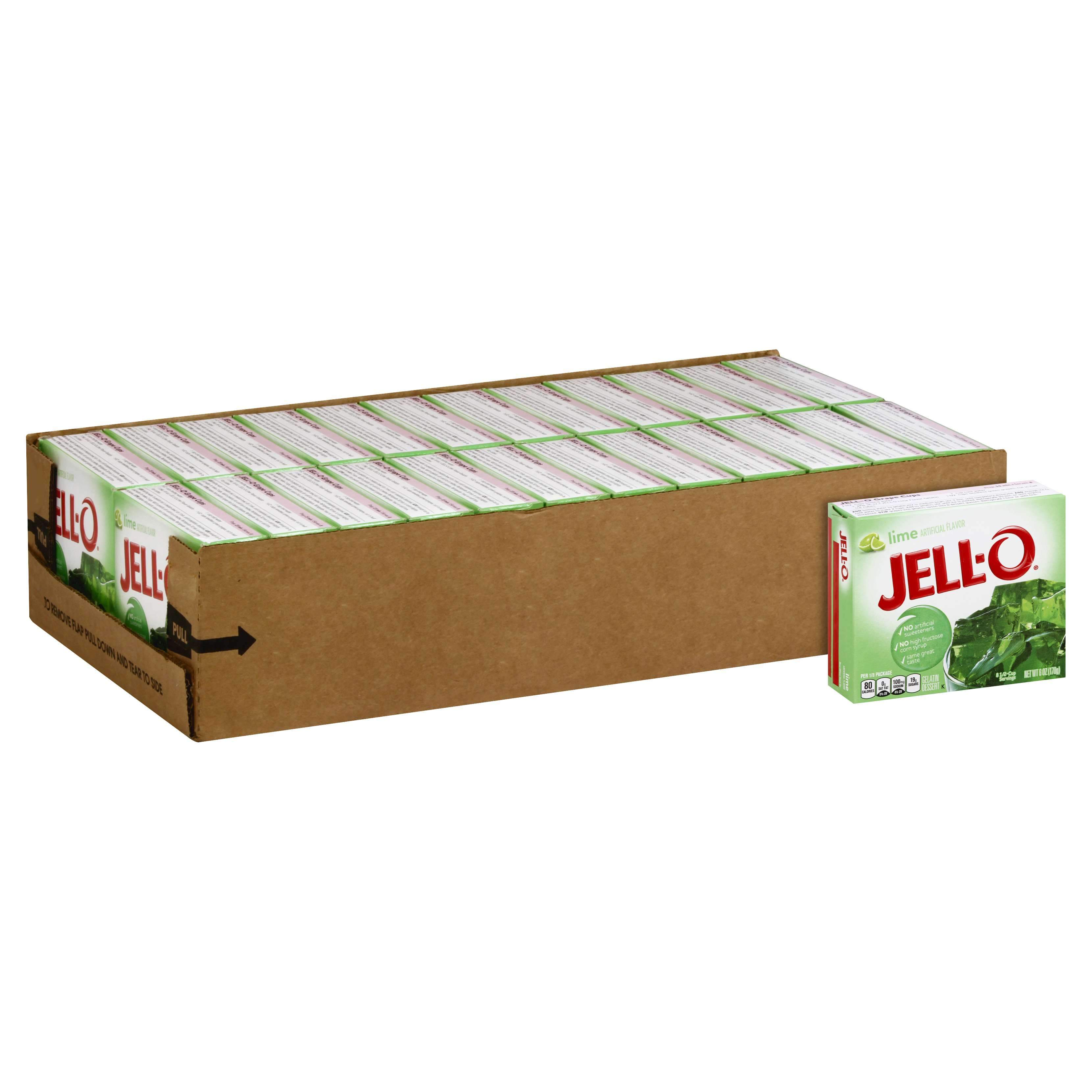Jell-O Gelatin Mix Jell-O Lime 6 Oz-24 Count