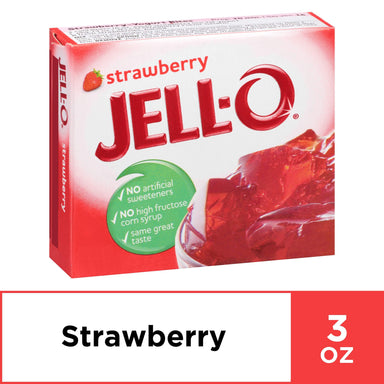Jell-O Gelatin Mix Jell-O Strawberry 3 Ounce