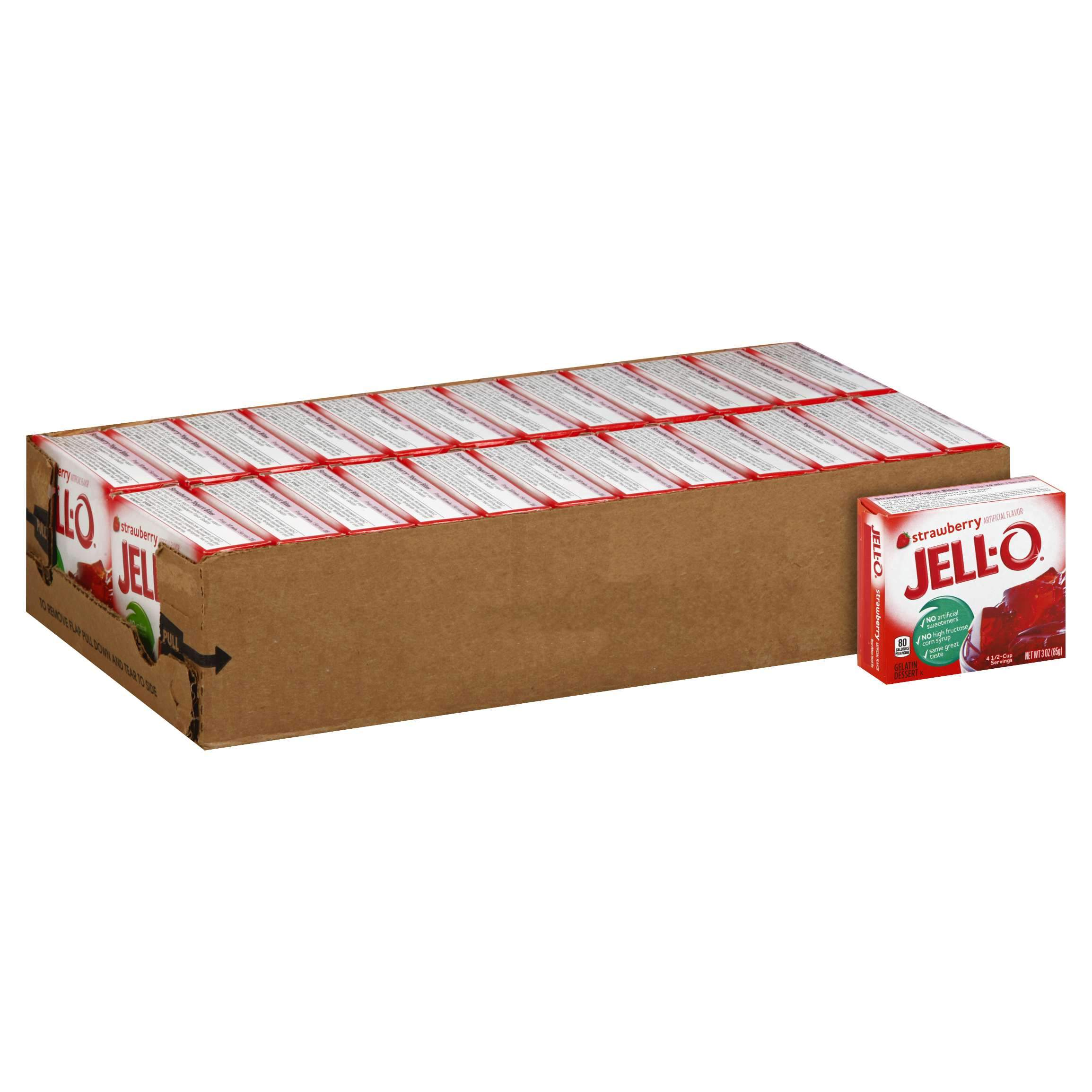 Jell-O Gelatin Mix Jell-O Strawberry 3 Oz-24 Count