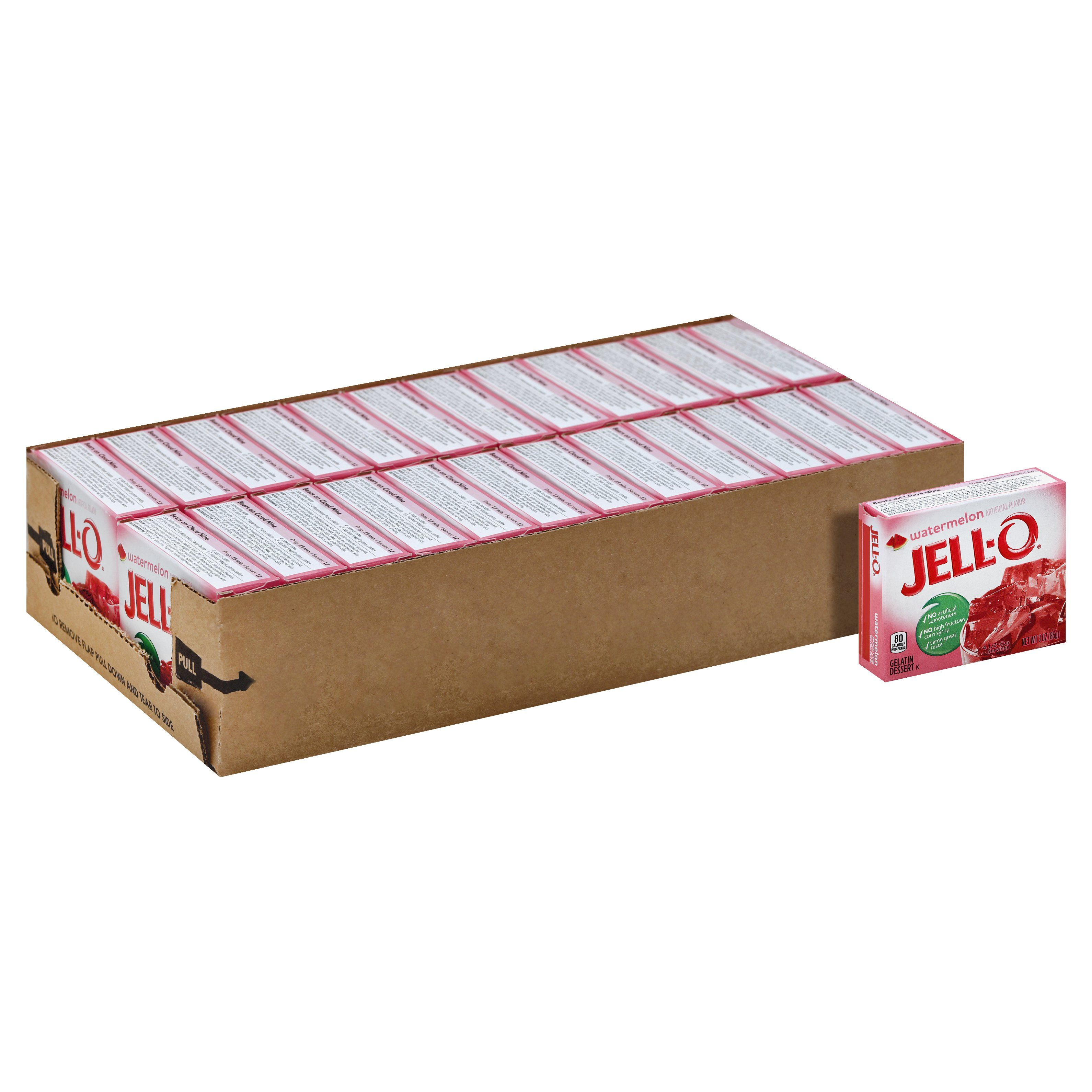Jell-O Gelatin Mix Jell-O Watermelon 3 Oz-24 Count
