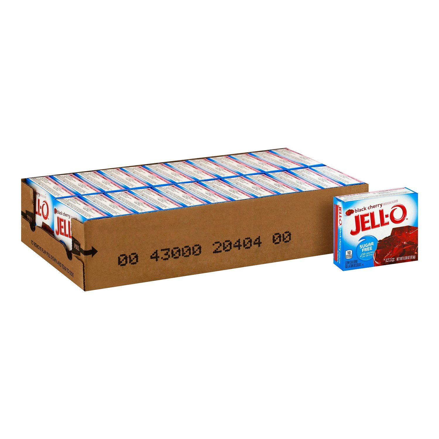 Jell-O Gelatin Mix Sugar Free Jell-O Sugar Free Black Cherry 0.3 Oz-24 Count