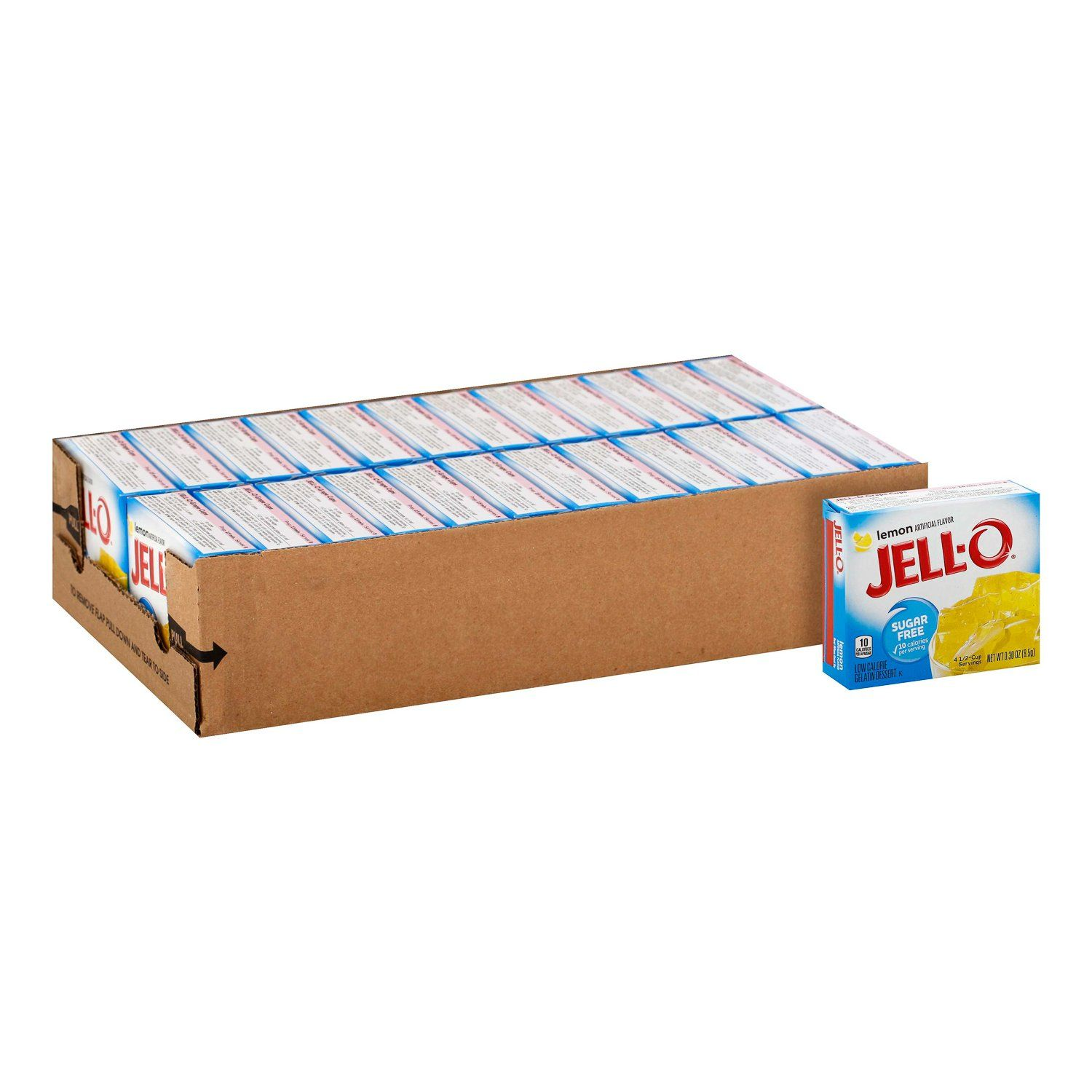 Jell-O Gelatin Mix Sugar Free Jell-O Sugar Free Lemon 0.3 Oz-24 Count