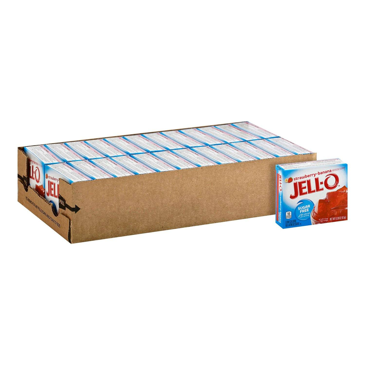 Jell-O Gelatin Mix Sugar Free Jell-O Sugar Free Strawberry-Banana 0.3 Oz-24 Count