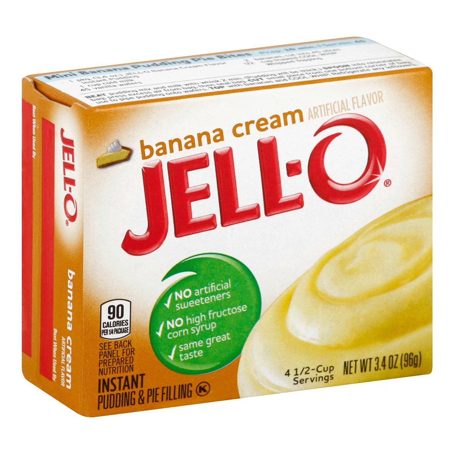 Jell-O Instant Pudding & Pie Filling Mixes Jell-O Banana Cream 3.4 Ounce