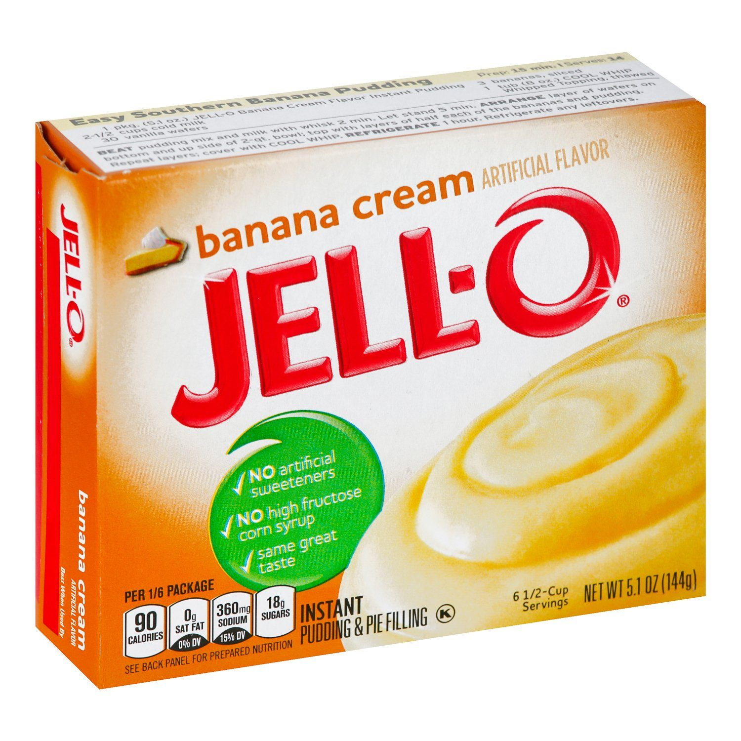 Jell-O Instant Pudding & Pie Filling Mixes Jell-O Banana Cream 5.1 Ounce