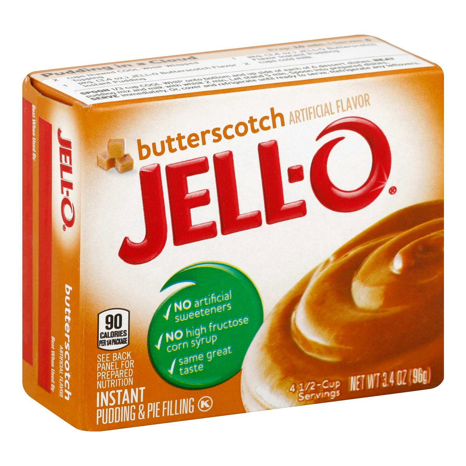 Jell-O Instant Pudding & Pie Filling Mixes Jell-O Butterscotch 3.4 Ounce