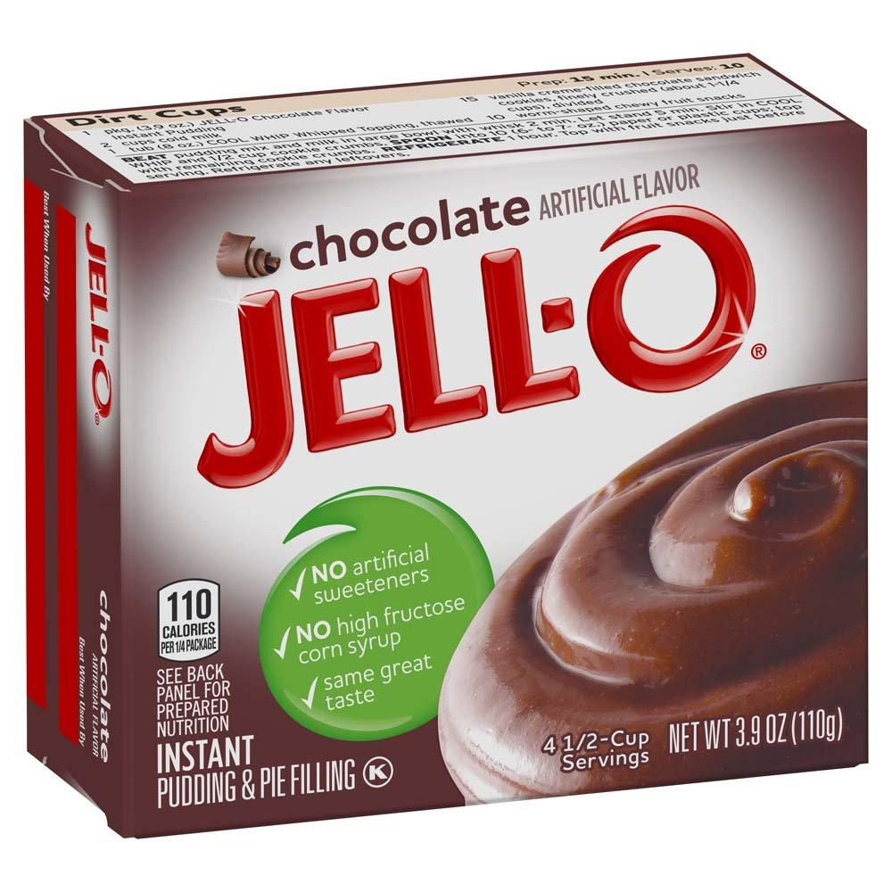 Jell-O Instant Pudding & Pie Filling Mixes Jell-O Chocolate 3.9 Ounce