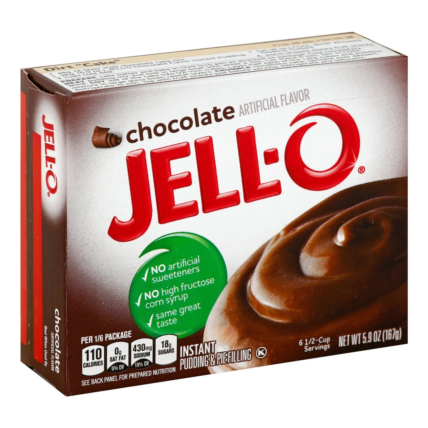 Jell-O Instant Pudding & Pie Filling Mixes Jell-O Chocolate 5.9 Ounce