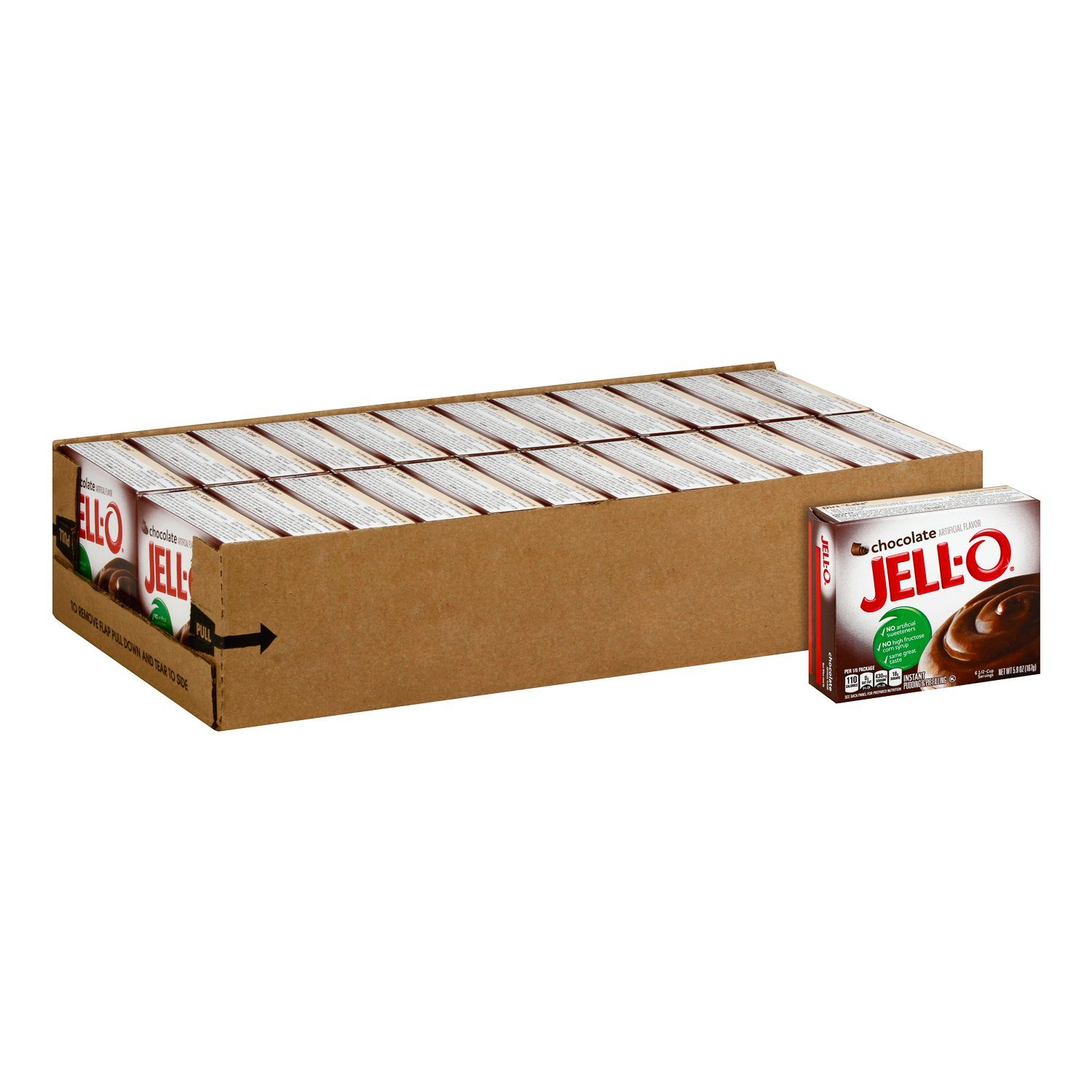 Jell-O Instant Pudding & Pie Filling Mixes Jell-O Chocolate 5.9 Oz-24 Count