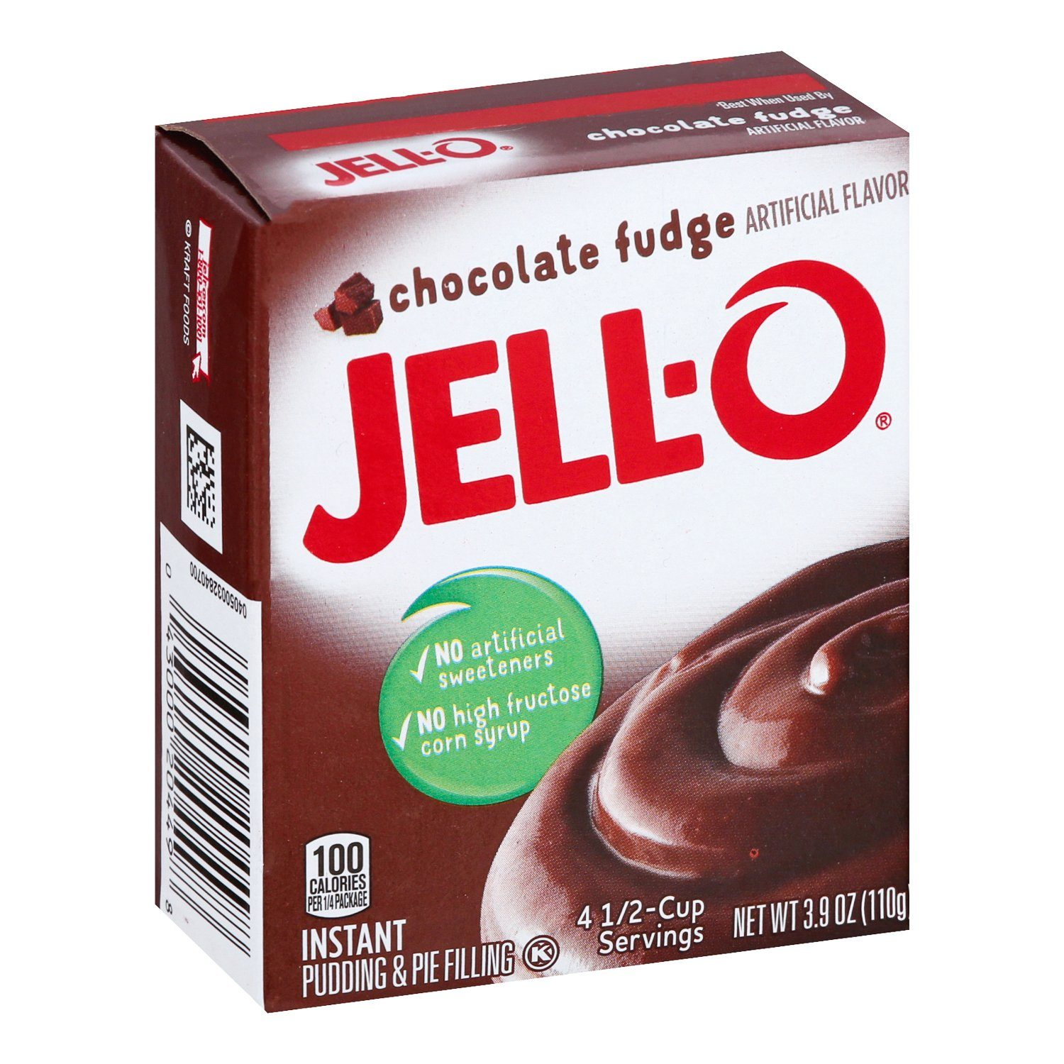 Jell-O Instant Pudding & Pie Filling Mixes Jell-O Chocolate Fudge 3.9 Ounce