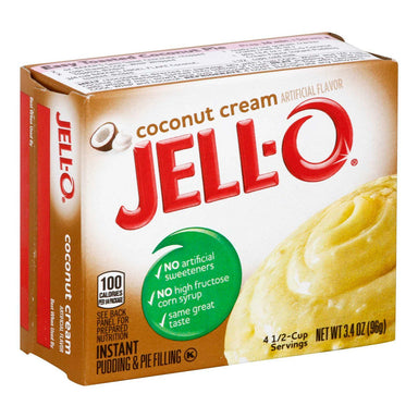 Jell-O Instant Pudding & Pie Filling Mixes Jell-O Coconut Cream 3.4 Ounce