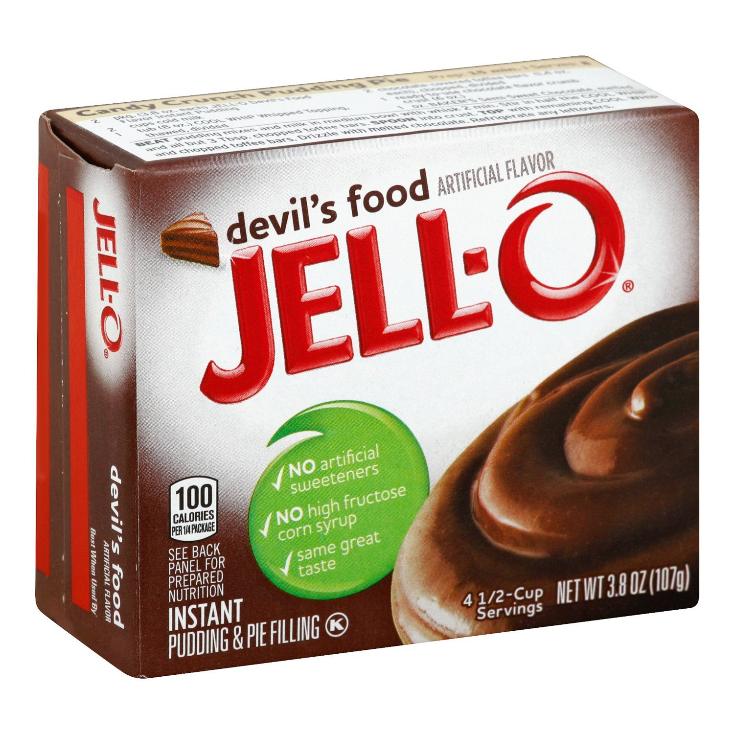 Jell-O Instant Pudding & Pie Filling Mixes Jell-O Devil's Food 3.4 Ounce