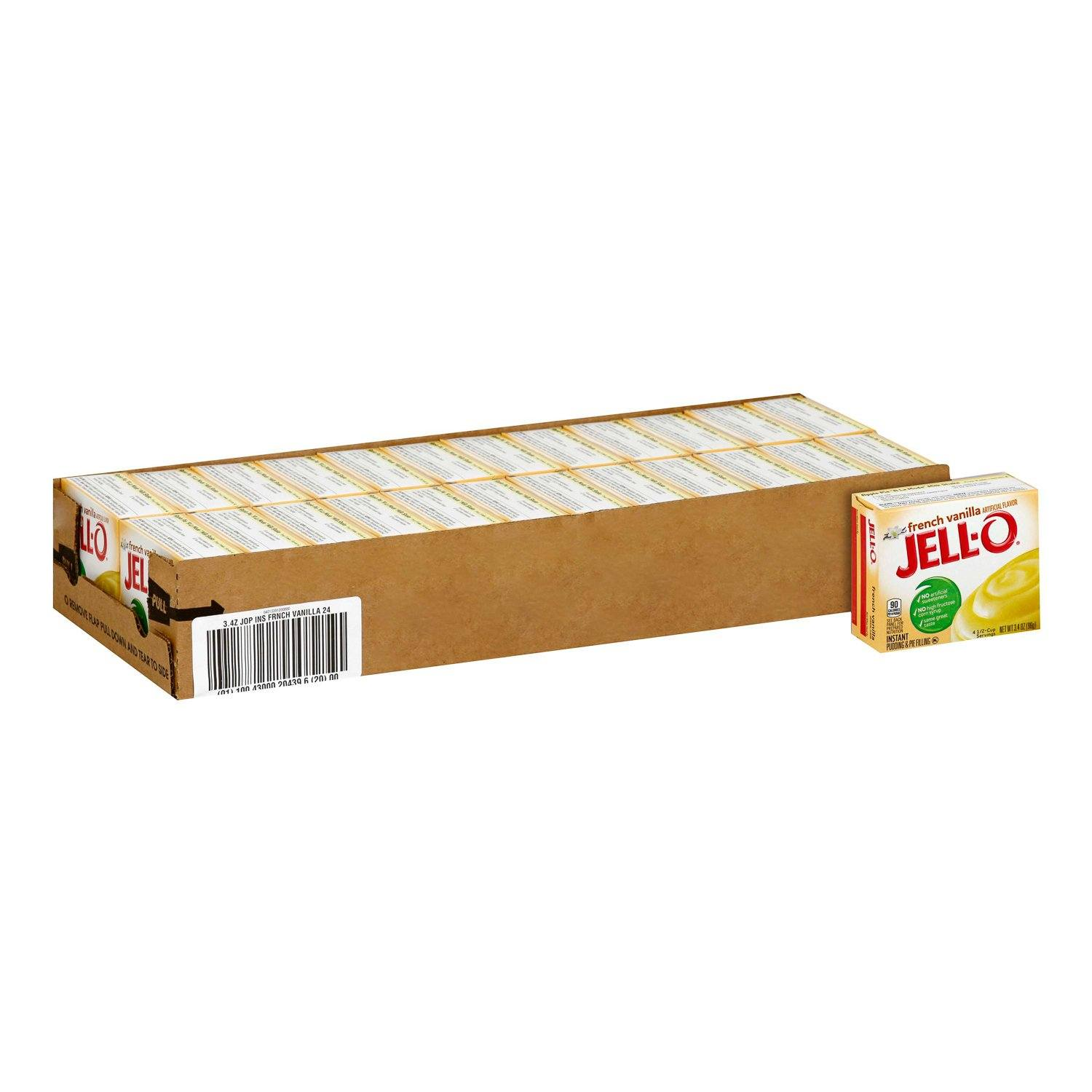 Jell-O Instant Pudding & Pie Filling Mixes Jell-O French Vanilla 3.4 Oz-24 Count