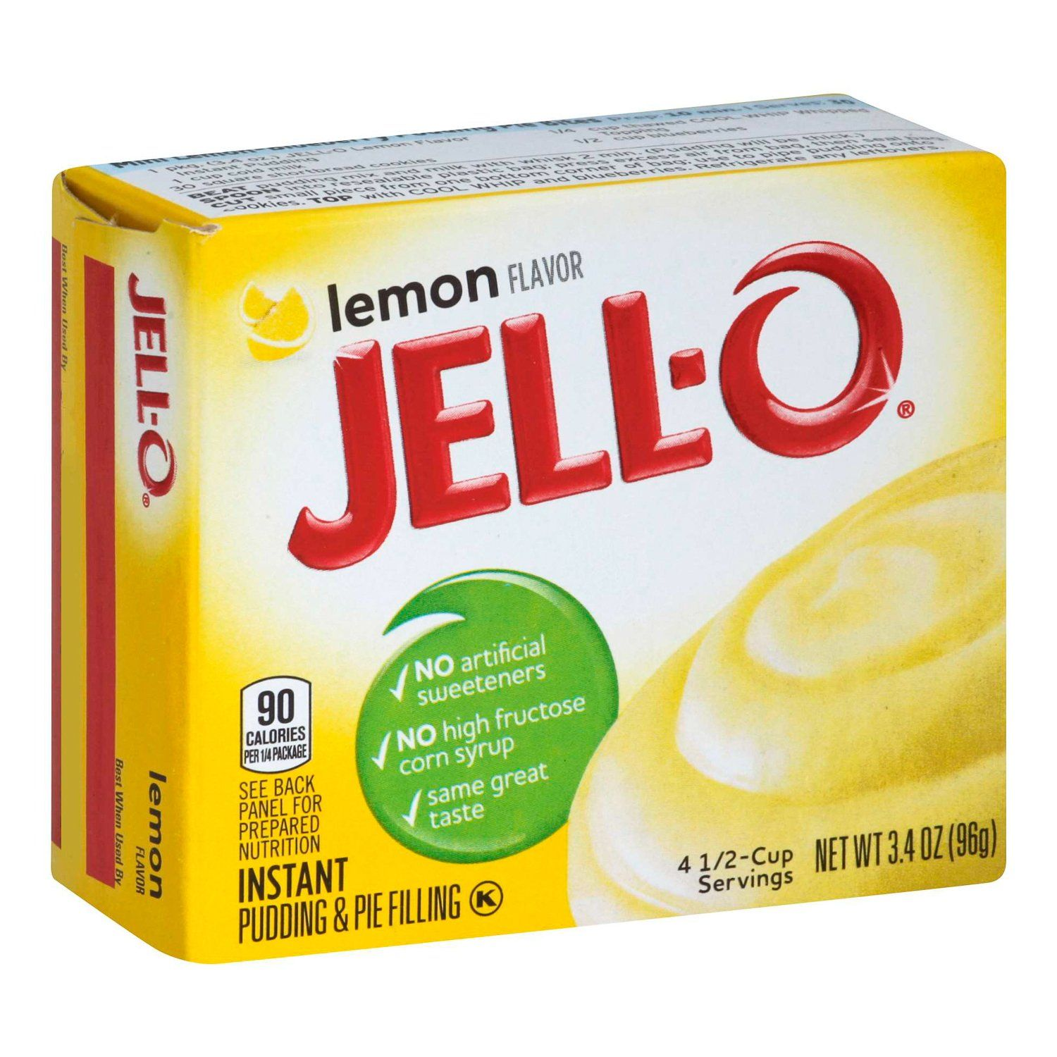 Jell-O Instant Pudding & Pie Filling Mixes Jell-O Lemon 3.4 Ounce