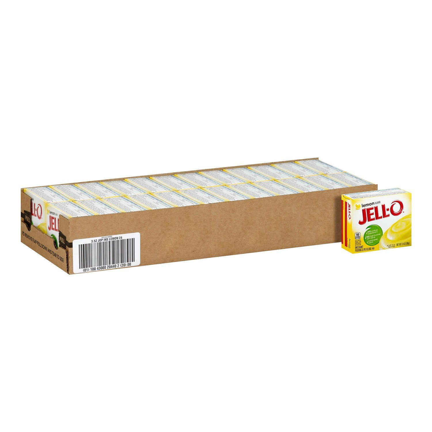 Jell-O Instant Pudding & Pie Filling Mixes Jell-O Lemon 3.4 Oz-24 Count