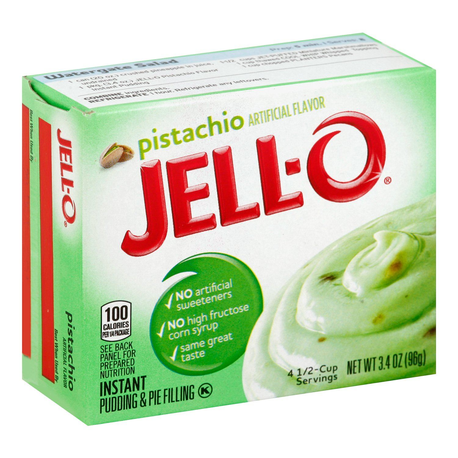 Jell-O Instant Pudding & Pie Filling Mixes Jell-O Pistachio 3.4 Ounce