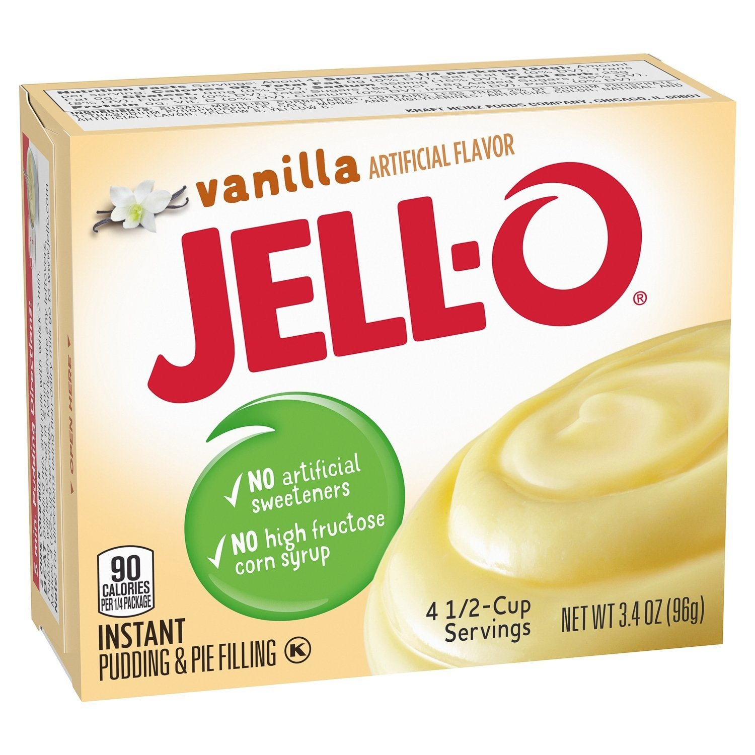Jell-O Instant Pudding & Pie Filling Mixes Jell-O Vanilla 3.4 Ounce