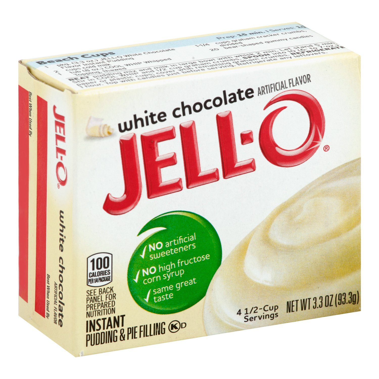 Jell-O Instant Pudding & Pie Filling Mixes Jell-O White Chocolate 3.3 Ounce