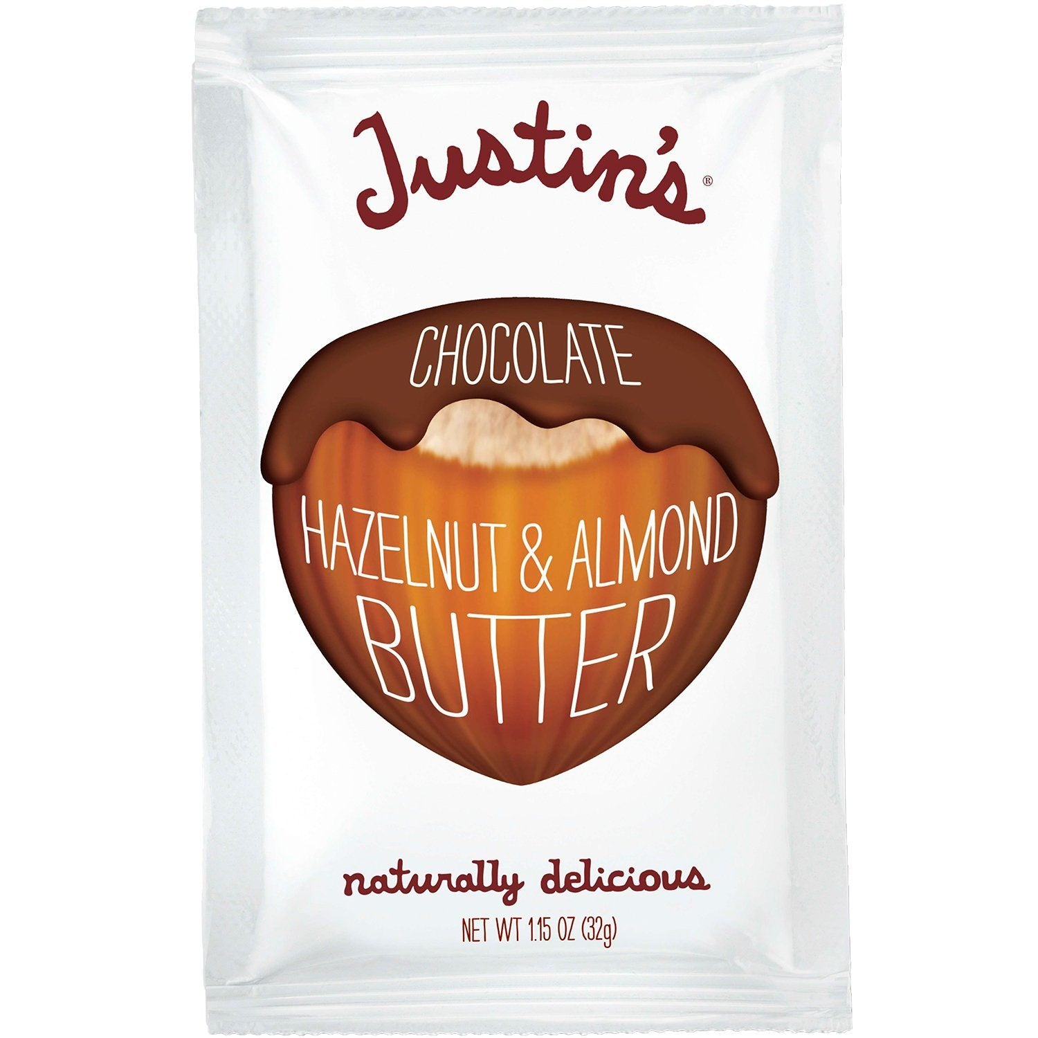 Justin's Nut Butter Squeeze Packs Justin's Almond Butter Chocolate Hazelnut 1.15 Ounce