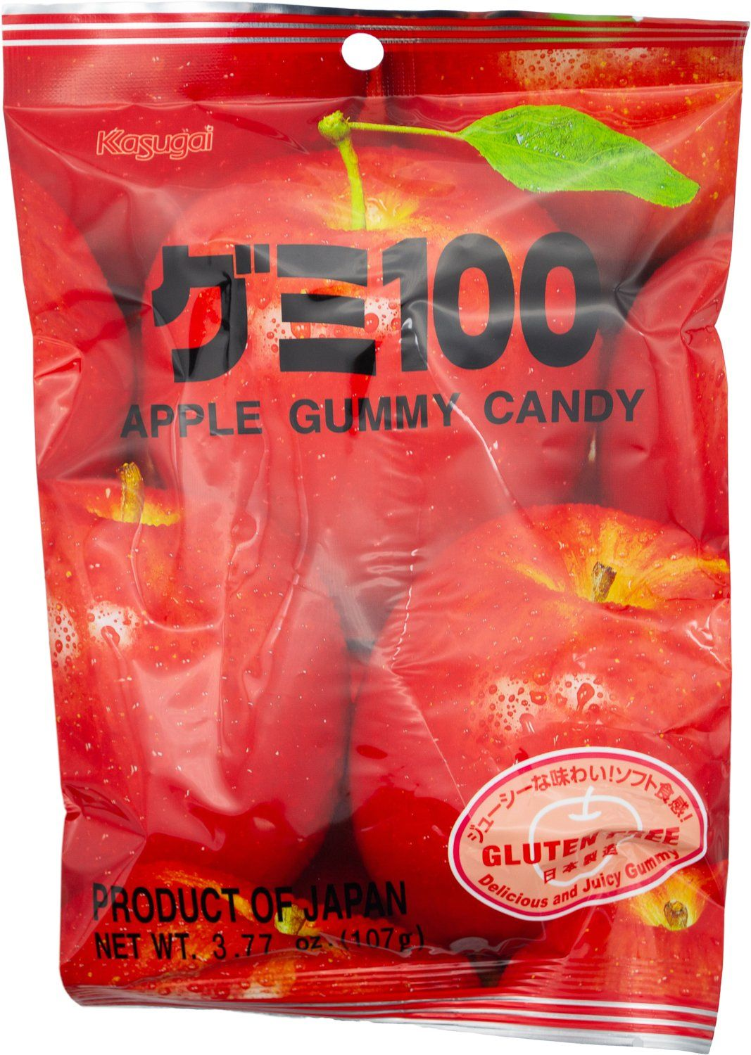 Kasugai Gummy Candy Kasugai Apple 3.77 Ounce