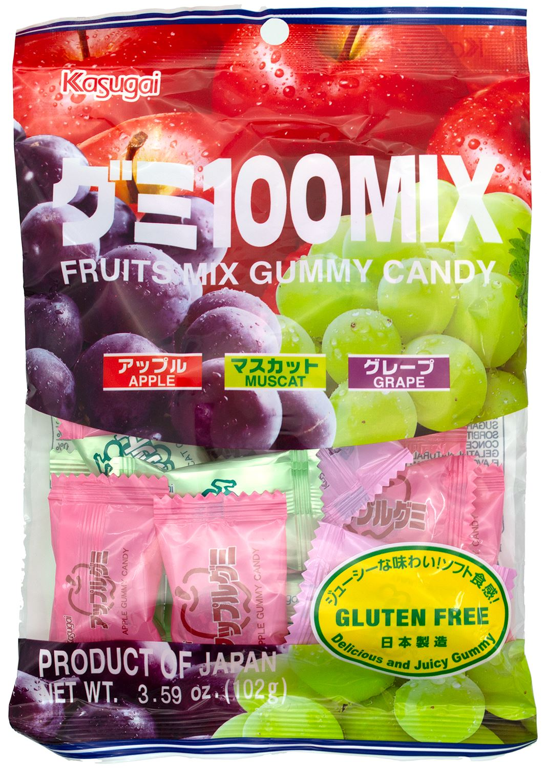 Kasugai Gummy Candy Kasugai Fruit Mix 3.59 Ounce